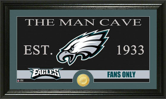 "Philadelphia Eagles ""The Man Cave"" Bronze Coin Panoramic Photo Mint (HM)"