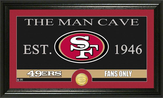 "San Francisco 49ers ""The Man Cave"" Bronze Coin Panoramic Photo Mint (HM)"