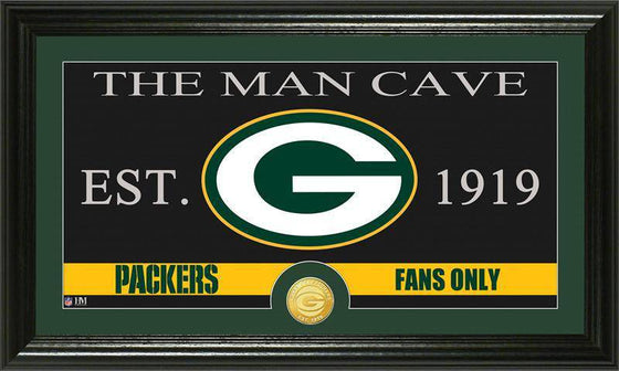 "Green Bay Packers ""The Man Cave"" Bronze Coin Panoramic Photo Mint (HM)"