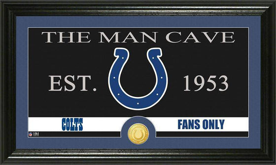 "Indianapolis Colts ""The Man Cave"" Bronze Coin Panoramic Photo Mint (HM)"