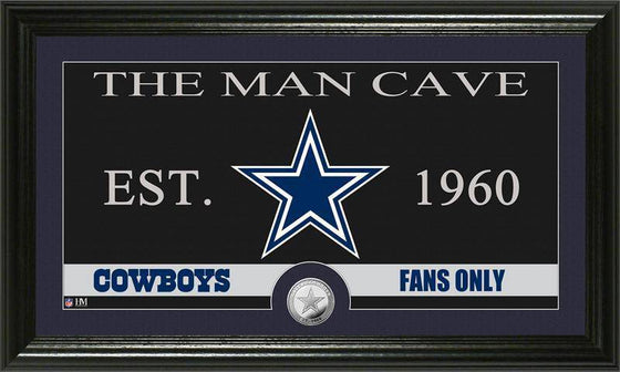 "Dallas Cowboys ""The Man Cave"" Minted Coin Panoramic Photo Mint (HM)"