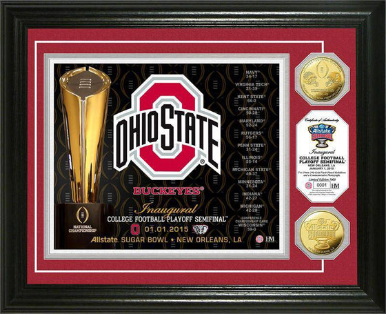 Ohio State University Buckeyes College Football Playoff Sugar Bowl Gold Coin Photo Mint (HM)