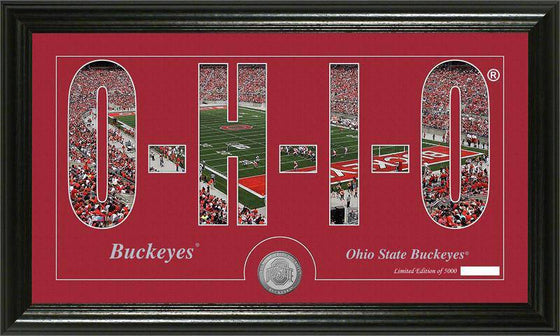 "Ohio State Buckeyes Ohio State University ""Silhouette"" Minted Coin Panoramic Photo Mint (HM)"