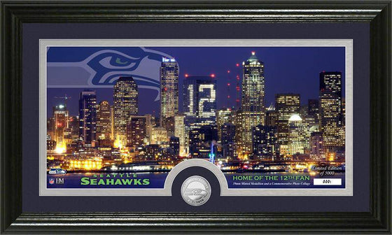 "Seattle Seahawks ""City Scape"" Panoramic Minted Coin Photo Mint (HM)"