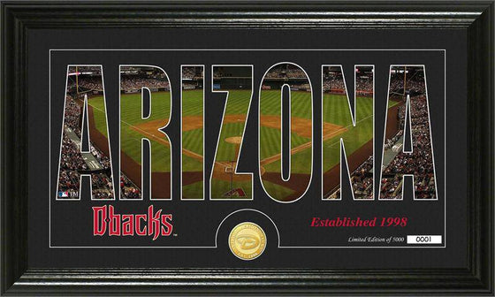 "Arizona Diamondbacks ""Silhouette"" Bronze Coin Photo Mint (HM)"