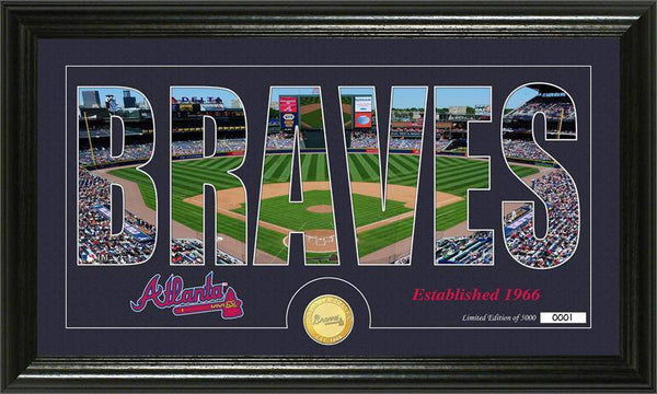 "Atlanta Braves ""Silhouette"" Bronze Coin Panoramic Photo Mint (HM)"