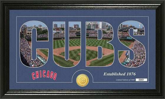 "Chicago Cubs ""Silhouette"" Bronze Coin Panoramic Photo Mint (HM)"