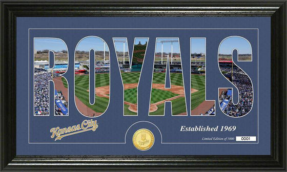 "Kansas City Royals ""Silhouette"" Bronze Coin Panoramic Photo Mint (HM)"