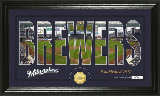 "Milwaukee Brewers ""Silhouette"" Bronze Coin Panoramic Photo Mint (HM)"