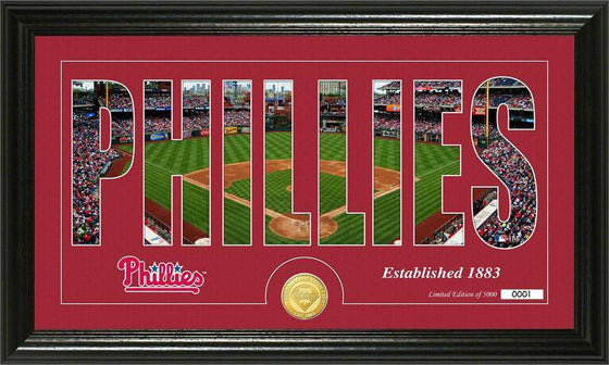 "Philadelphia Phillies ""Silhouette"" Bronze Coin Panoramic Photo Mint (HM)"
