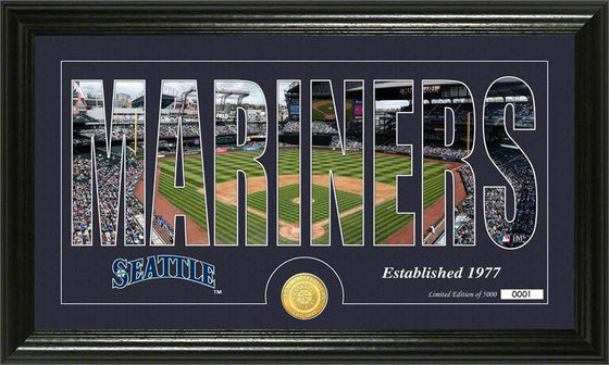 "Seattle Mariners ""Silhouette"" Bronze Coin Panoramic Photo Mint (HM)"