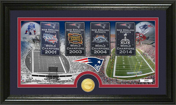 "New England Patriots ""Traditions"" Bronze Coin Panoramic Photo Mint (HM)"