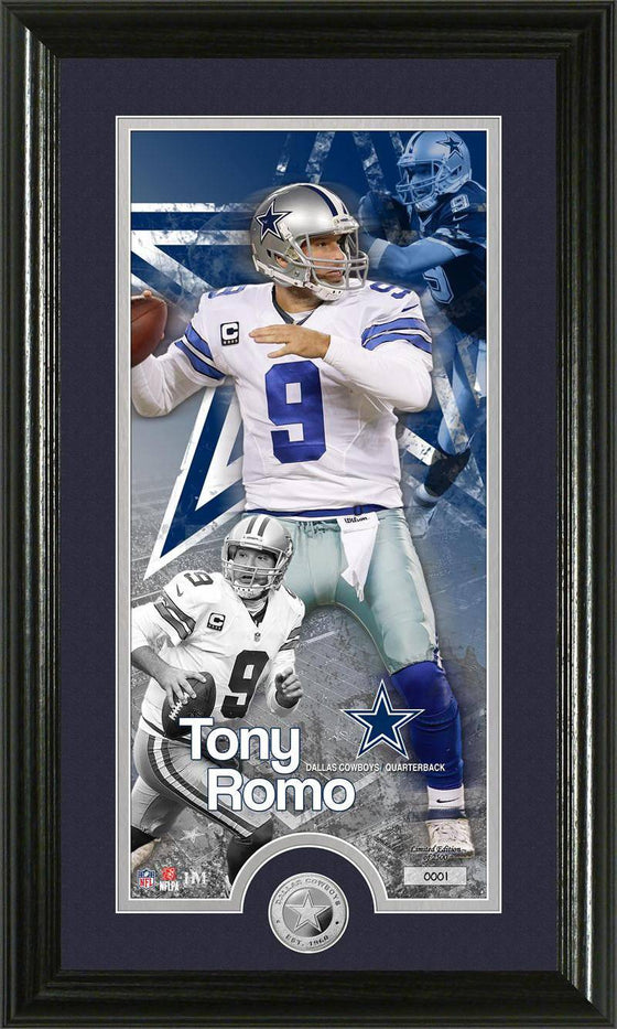 "Dallas Cowboys Tony Romo ""Supreme"" Minted Coin Panoramic Photo Mint (HM)"