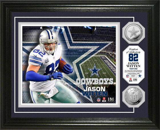 Dallas Cowboys Jason Witten Silver Coin Photo Mint (HM)