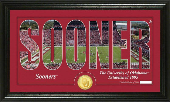 "Oklahoma Sooners University of Oklahoma ""Silhouette"" Bronze Coin Panoramic Photo Mint (HM)"