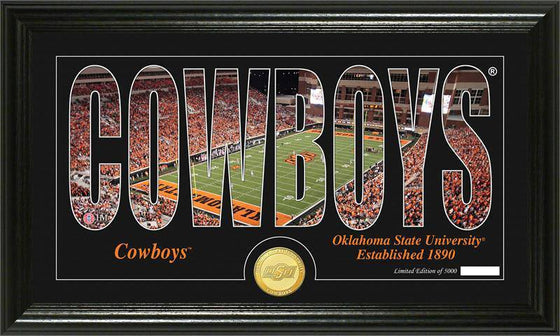 "Oklahoma State Cowboys Oklahoma State University ""Silhouette"" Bronze Coin Panoramic Photo Mint (HM)"