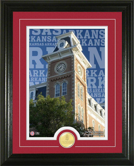 "Arkansas Razorbacks University of Arkansas ""Campus Traditions"" Bronze Coin Photo Mint (HM)"
