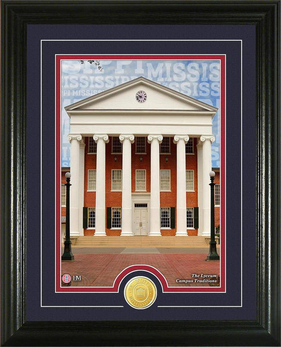"Ole Miss Rebels University of Mississippi ""Campus Traditions"" Bronze Coin Photo Mint (HM)"