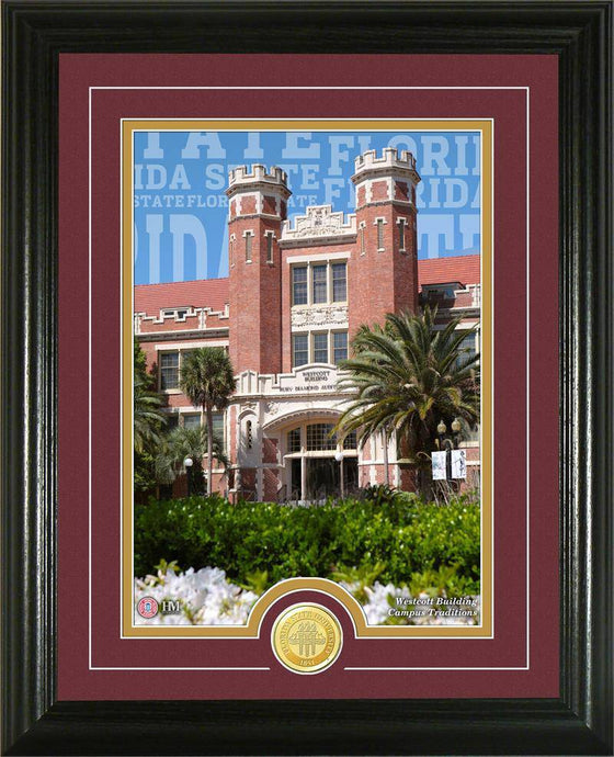 "Florida State Seminoles Florida State University ""Campus Traditions"" Bronze Coin Photo Mint (HM)"