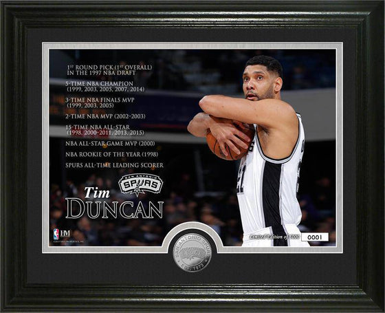 "San Antonio Spurs Tim Duncan ""Legacy"" Minted Coin Photo Mint (HM)"