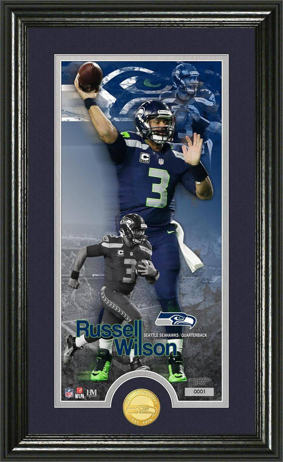 "Seattle Seahawks Russell Wilson ""Supreme"" Bronze Coin Panoramic Photo Mint (HM)"