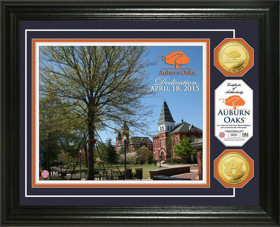 Auburn Tigers Auburn Oaks Dedication Gold Coin Photo Mint (HM)