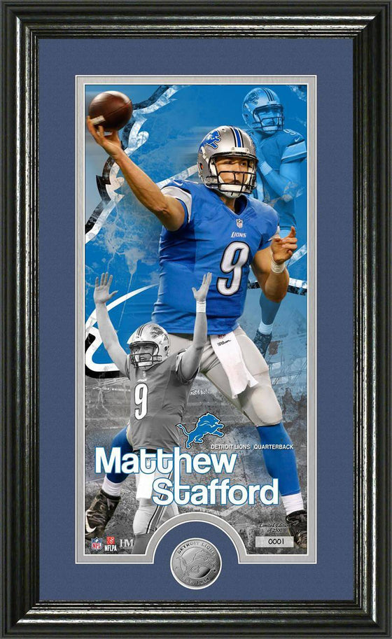"Detroit Lions Matthew Stafford ""Supreme"" Minted Coin Panoramic Photo Mint (HM)"