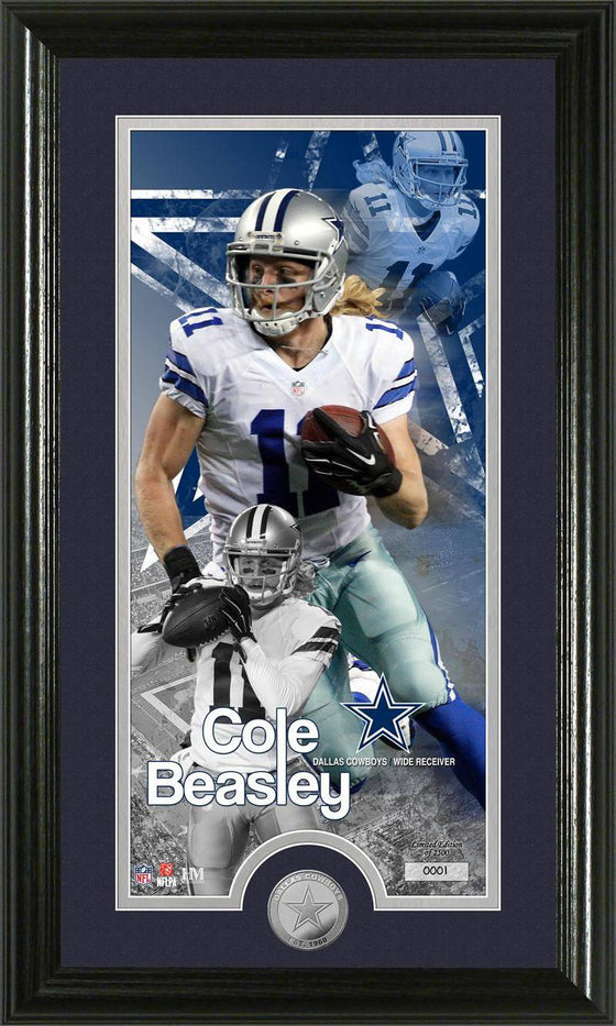 "Dallas Cowboys Cole Beasley ""Supreme"" Minted Coin Panoramic Photo Mint (HM)"