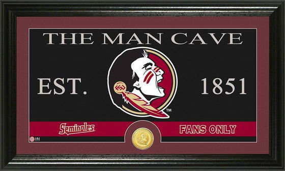 "Florida State Seminoles Florida State University ""Man Cave"" Bronze Coin Panoramic Photo Mint (HM)"