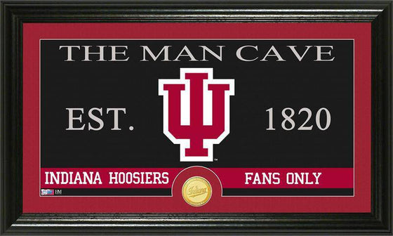 "Indiana Hoosiers Indiana University ""Man Cave"" Bronze Coin Panoramic Photo Mint (HM)"