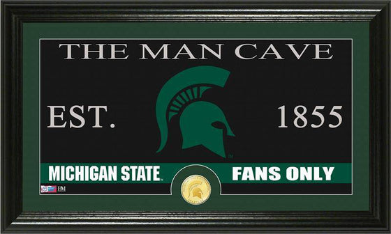 "Michigan State Spartans Michigan State University ""Man Cave"" Bronze Coin Panoramic Photo Mint (HM) - 757 Sports Collectibles"
