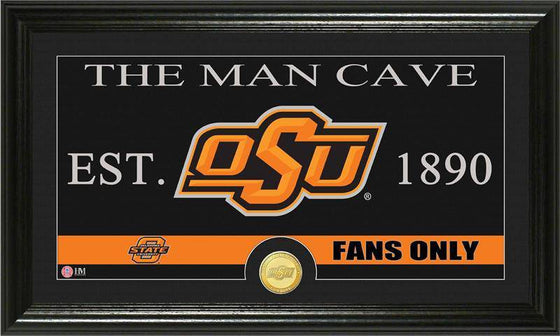 "Oklahoma State Cowboys Oklahoma State University ""Man Cave"" Bronze Coin Panoramic Photo Mint (HM) - 757 Sports Collectibles"