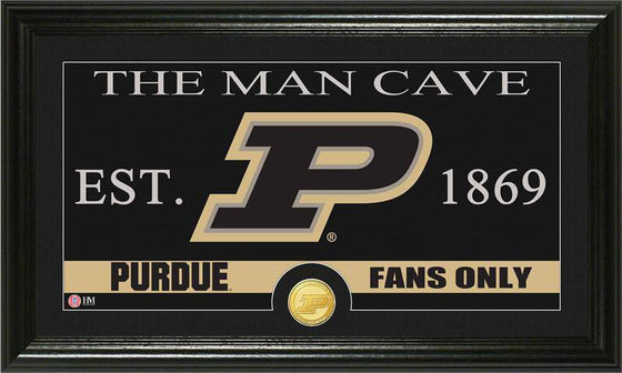 "Purdue Boilermakers Purdue University ""Man Cave"" Bronze Coin Panoramic Photo Mint (HM)"