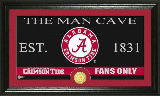 "Alabama Crimson Tide University of Alabama ""Man Cave"" Bronze Coin Panoramic Photo Mint (HM)"