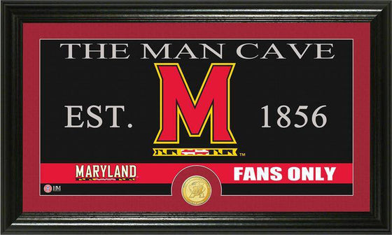 "Maryland Terripans University of Maryland ""Man Cave"" Bronze Coin Panoramic Photo Mint (HM)"