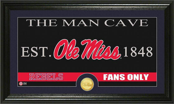 "Ole Miss Rebels University of Mississippi ""Man Cave"" Bronze Coin Panoramic Photo Mint (HM) - 757 Sports Collectibles"