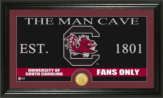 "South Carolina Gamecocks University of South Carolina ""Man Cave"" Bronze Coin Panoramic Photo Mint (HM) - 757 Sports Collectibles"