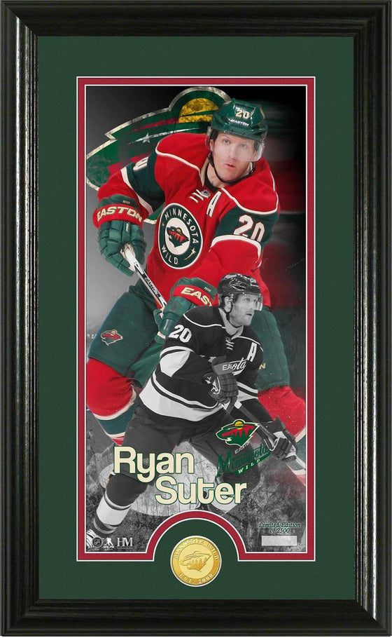 "Minnesota Wild Ryan Suter ""Supreme"" Bronze Coin Panoramic Photo Mint (HM) - 757 Sports Collectibles"