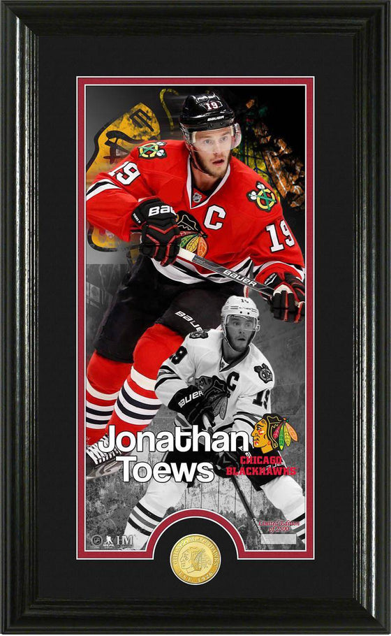 "Chicago Blackhawks Jonathan Toews ""Supreme"" Bronze Coin Panoramic Photo Mint (HM)"
