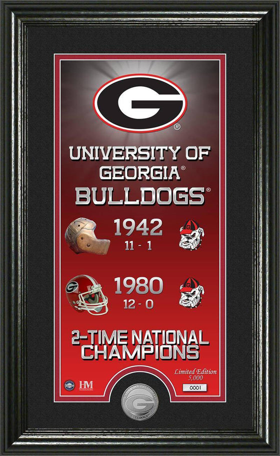 "Georgia Bulldogs University of Georgia ""Legacy"" Supreme Minted Coin Panoramic Photo Mint (HM)"