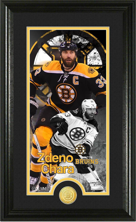 Boston Bruins Zdeno Chara Supreme Bronze Coin Panoramic Photo Mint (HM)