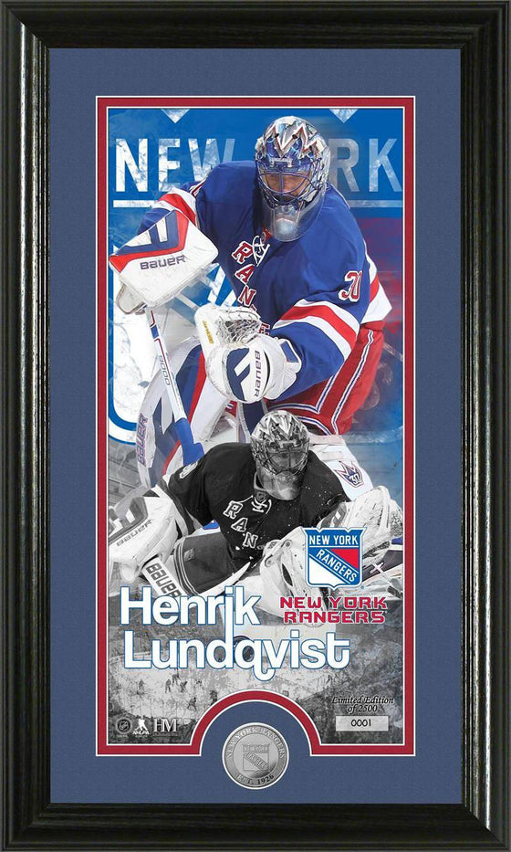 New York Rangers Henrick Lundqvist Supreme Minted Coin Panoramic Photo Mint (HM)
