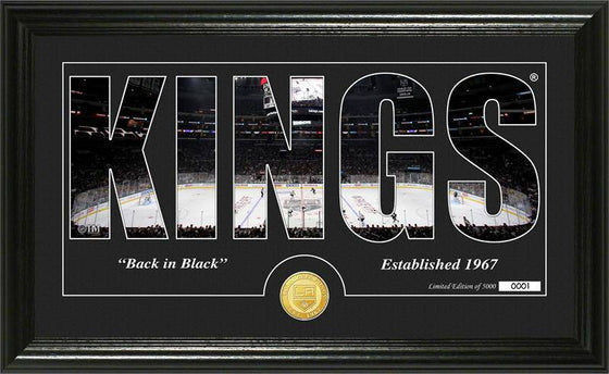 "Los Angeles Kings ""Silhouette"" Bronze Coin Panoramic Photo Mint (HM)"