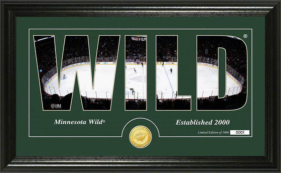 "Minnesota Wild ""Silhouette"" Bronze Coin Panoramic Photo Mint (HM)"