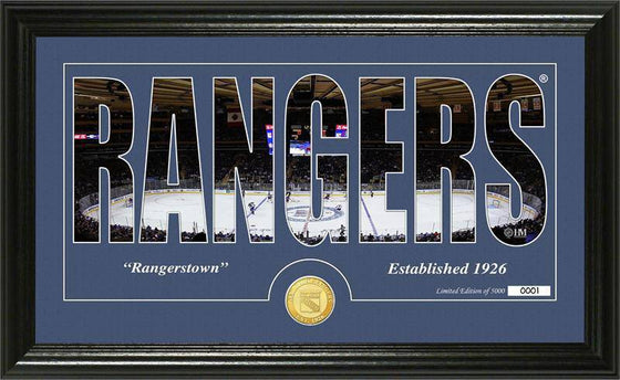 "New York Rangers ""Silhouette"" Bronze Coin Panoramic Photo Mint (HM)"