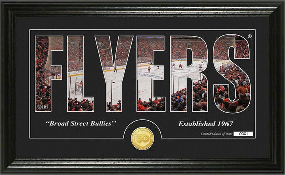 "Philadelphia Flyers ""Silhouette"" Bronze Coin Panoramic Photo Mint (HM)"
