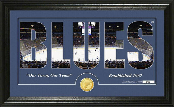 "St. Louis Blues ""Silhouette"" Bronze Coin Panoramic Photo Mint (HM)"