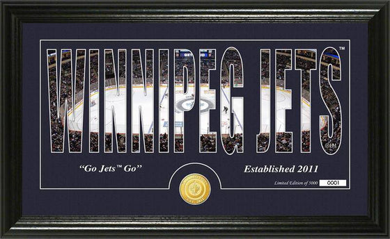 "Winnipeg Jets ""Silhouette"" Bronze Coin Panoramic Photo Mint (HM)"