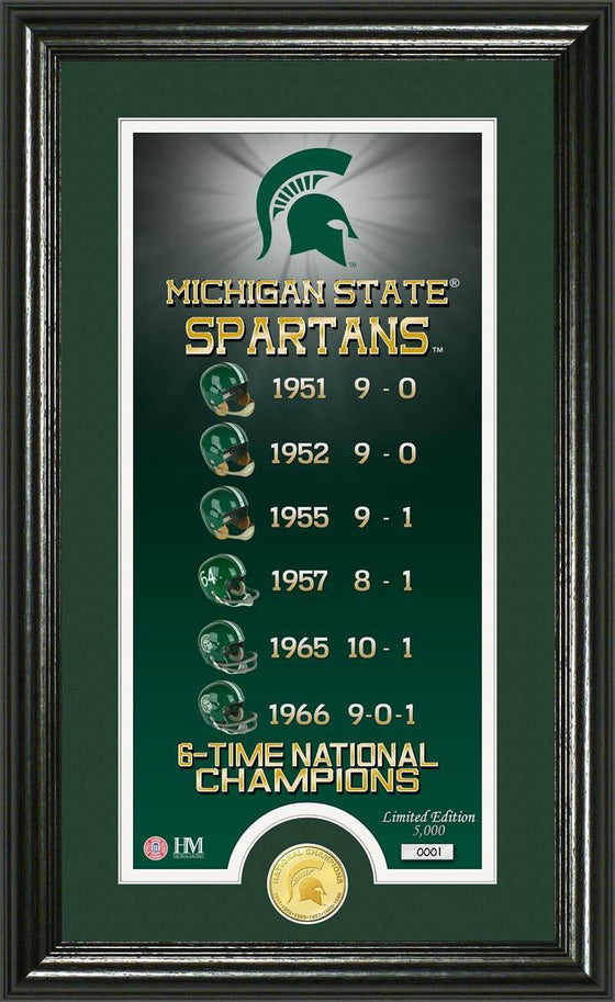 "Michigan State Spartans Michigan State University ""Legacy"" Bronze Coin Panoramic Photo Mint (HM)"