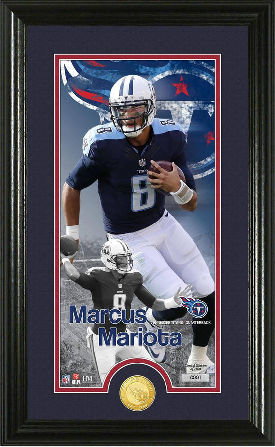 "Tennessee Titans Marcus Mariota ""Supreme"" Bronze Coin Panoramic Photo Mint (HM)"